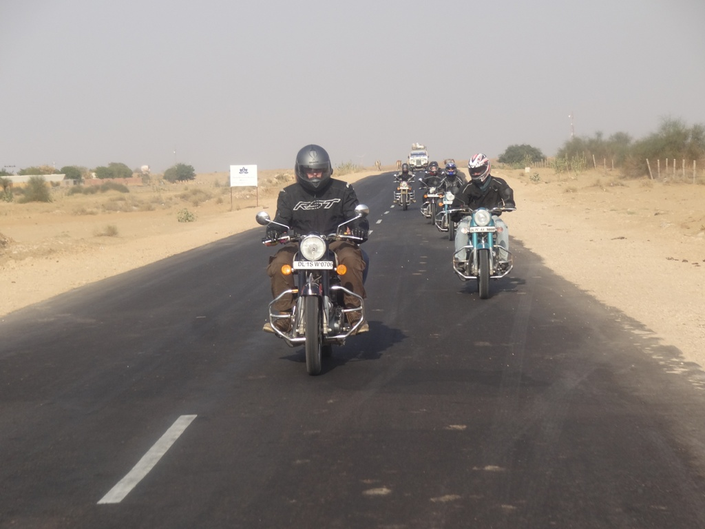 Our Riders towards Sand Dunes