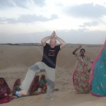 Dancing moment at Sand Dunes
