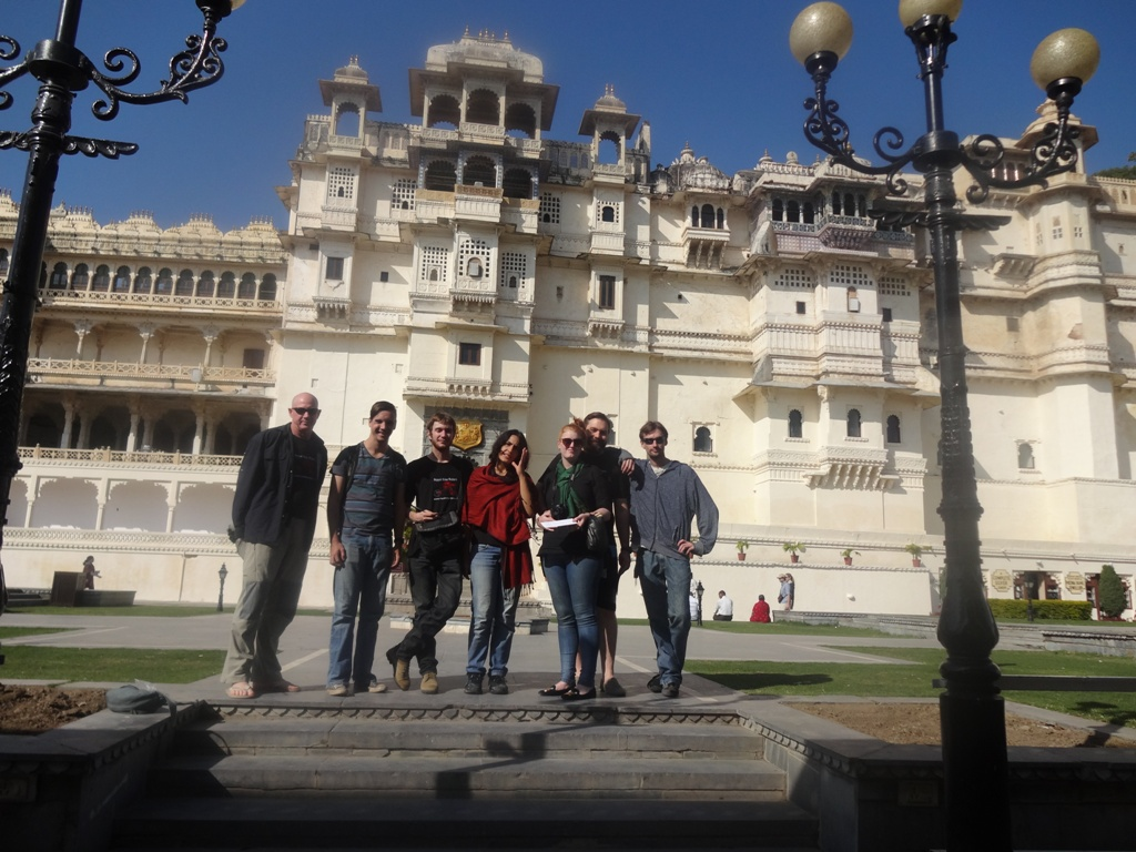 Group picture at City Palace of Udaipur