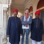 Royal guard of City Palace in Jaipur