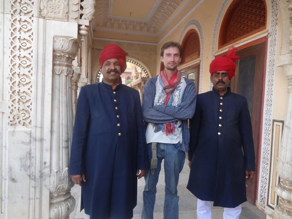 Royal guard of City Palace in Jaipur