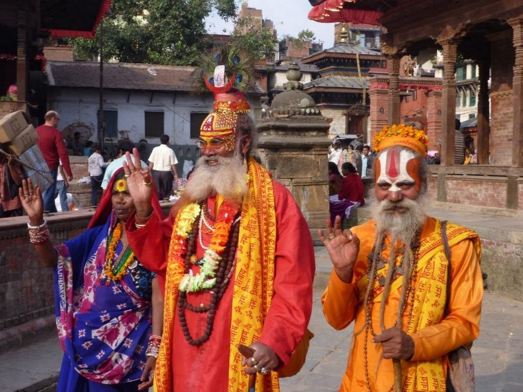 Religious person in Uttarakhand